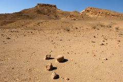 Paisaje del desierto en las montañas de Negev Imagen de archivo libre de regalías