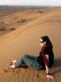 Paisaje del desierto en Omán Imagen de archivo libre de regalías