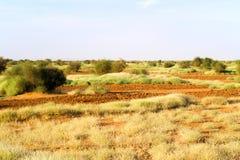 Paisaje del desierto en Sudán Imágenes de archivo libres de regalías