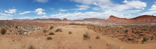 Paisaje del desierto en Utah imagenes de archivo