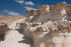 Paisaje del desierto, Negev, Israel Imagen de archivo