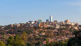 Paisaje del distrito financiero de la ciudad de Kigali, Rwanda Fotografía de archivo libre de regalías