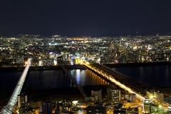 Paisaje del edificio del cielo de Umeda Imágenes de archivo libres de regalías