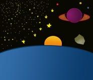 Paisaje del espacio Imagen de archivo libre de regalías