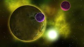 Paisaje del espacio de los planetas Loopable metrajes
