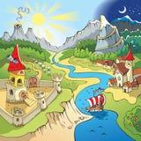 Paisaje del Fairy-tale Foto de archivo libre de regalías