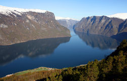 Paisaje del fiord en Noruega Imagen de archivo libre de regalías