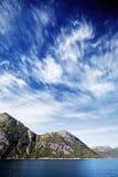 Paisaje del fiordo de Noruega Fotografía de archivo