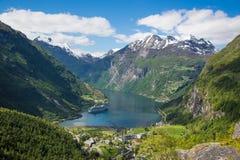 Paisaje del fiordo de Noruega Imagen de archivo