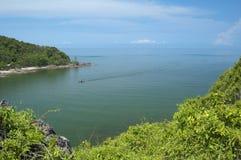 Paisaje del golfo de Tailandia Foto de archivo libre de regalías