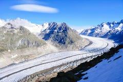 Paisaje del hielo del glaciar de Aletsch foto de archivo libre de regalías