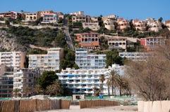 Paisaje del hotel de Santa Ponsa, Majorca, España foto de archivo