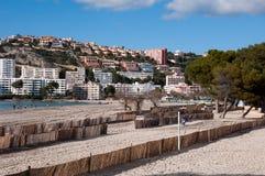 Paisaje del hotel de Santa Ponsa, Majorca, España Imágenes de archivo libres de regalías