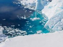 Paisaje del iceberg de la Antártida Fotografía de archivo libre de regalías
