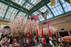 Paisaje del invernadero del hotel de Bellagio y de jardines botánicos en Las Vegas Fotografía de archivo