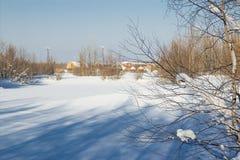 Paisaje del invierno. Fotos de archivo libres de regalías