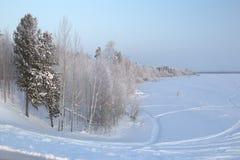 Paisaje del invierno. Foto de archivo