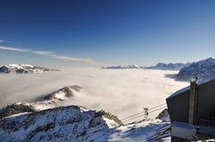 Paisaje del invierno cerca de Garmisch, Zugspitze, Alemania Imagen de archivo