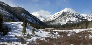 Paisaje del invierno de Colorado Imagen de archivo libre de regalías
