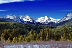 Paisaje del invierno de Colorado Foto de archivo