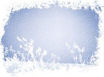 Paisaje del invierno de Grunge Imagenes de archivo
