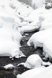 Paisaje del invierno de la montaña Imágenes de archivo libres de regalías