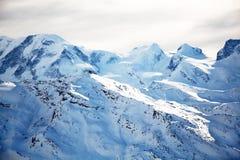 Paisaje del invierno de la nieve Fotografía de archivo