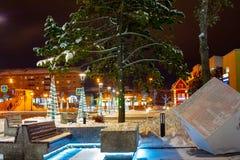 12 12 2018 paisaje del invierno de la provincia rusa Sergiev Posad antes del Año Nuevo fotos de archivo