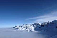 Paisaje del invierno de las montañas de Tatra Imagen de archivo libre de regalías