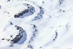 Paisaje del invierno de las montañas de la nieve en la estación de esquí de Ifen Baviera, Alemania Imagenes de archivo