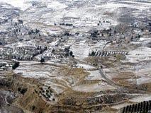 Paisaje del invierno de Oriente Medio imágenes de archivo libres de regalías