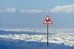 Paisaje del invierno de Oymyakon Yakutia, Rusia fotografía de archivo