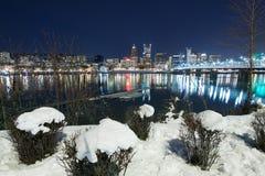 Paisaje del invierno de Portland Oregon imagen de archivo libre de regalías