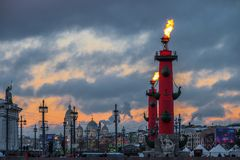 Paisaje del invierno de Sankt-Peterburg imagen de archivo