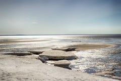 Paisaje del invierno del mar blanco Imagen de archivo