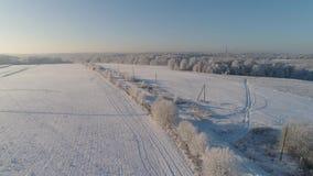 Paisaje del invierno en campo metrajes