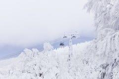 Paisaje del invierno en la montaña de Zao Fotos de archivo libres de regalías