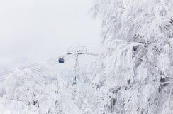 Paisaje del invierno en la montaña de Zao Imágenes de archivo libres de regalías