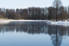 Paisaje del invierno en las afueras de Kazán foto de archivo libre de regalías
