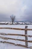 Paisaje del invierno en las montañas Fotografía de archivo libre de regalías