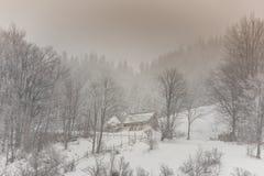 Paisaje del invierno en las montañas Imagen de archivo