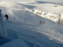 Paisaje del invierno en las montañas gigantes Imagen de archivo libre de regalías