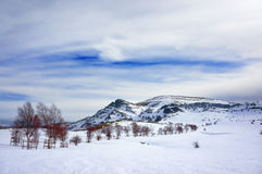 Paisaje del invierno en montañas Fotos de archivo
