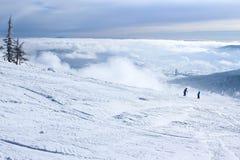 Paisaje del invierno en montañas Imagen de archivo