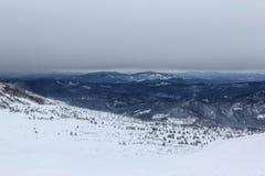 Paisaje del invierno en montañas Fotografía de archivo
