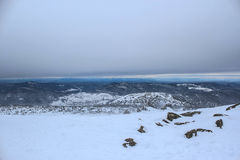 Paisaje del invierno en montañas Foto de archivo libre de regalías