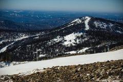 Paisaje del invierno en montañas Imágenes de archivo libres de regalías