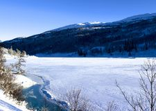 Paisaje del invierno en Noruega Imagenes de archivo
