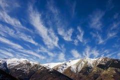 Paisaje del invierno en pelister del parque del naional Fotos de archivo