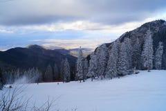 Paisaje del invierno en Rumania fotografía de archivo libre de regalías